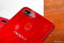 Mở hộp OPPO F9: mặt lưng đẹp, bám nhiều vân tay