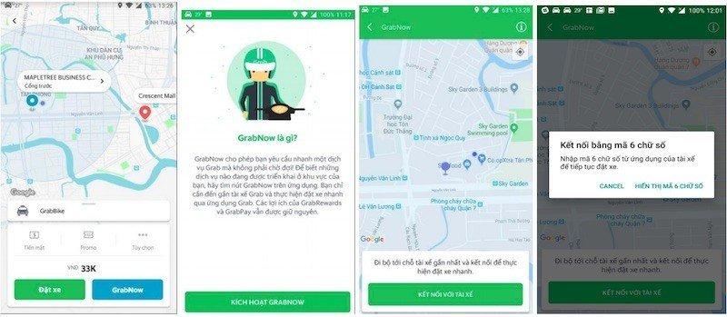 Grab thử nghiệm dịch vụ GrabNow tại Hà Nội và TP.HCM