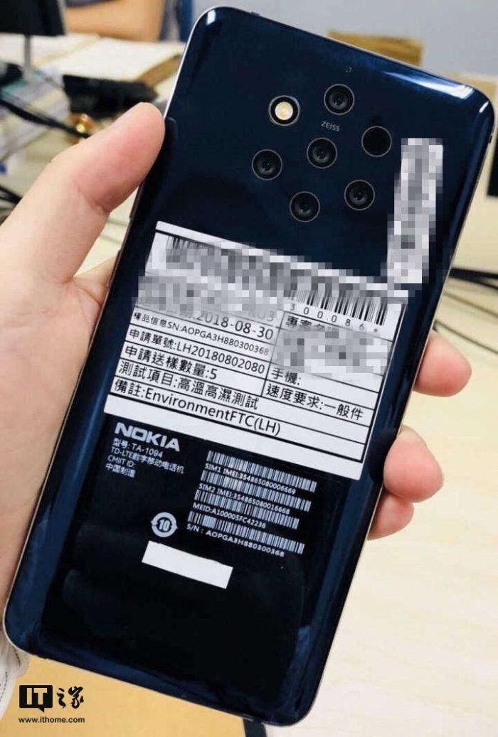 Hình ảnh rò rỉ của chiếc Nokia với 5 camera sau