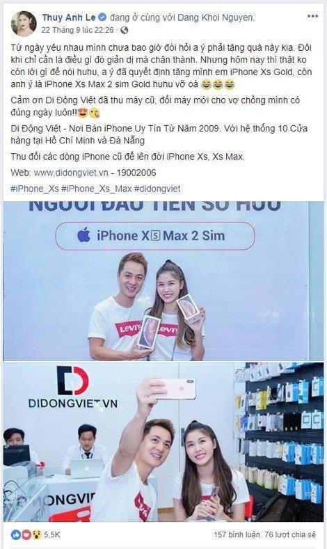 Ca sĩ Đăng Khôi khuyên nên mua iPhone Xs Max 256GB Gold 2 SIM