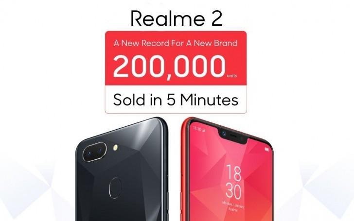 OPPO Realme 2 đạt số bán kỷ lục tại Ấn Độ