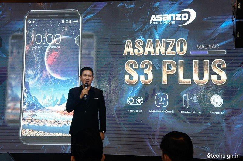 Asanzo S3 Plus ra mắt: cảm ứng vân tay cạnh bên, giá gần 2,6 triệu đồng