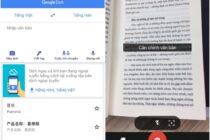 Google Translate cập nhật tiếng Việt vào tính năng dịch qua camera