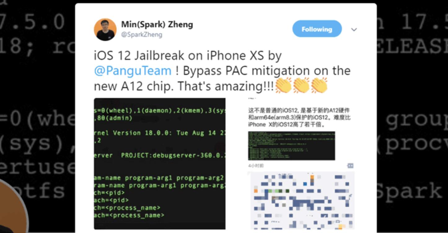 Hacker bẻ khoá iOS 12 trên iPhone Xs thành công