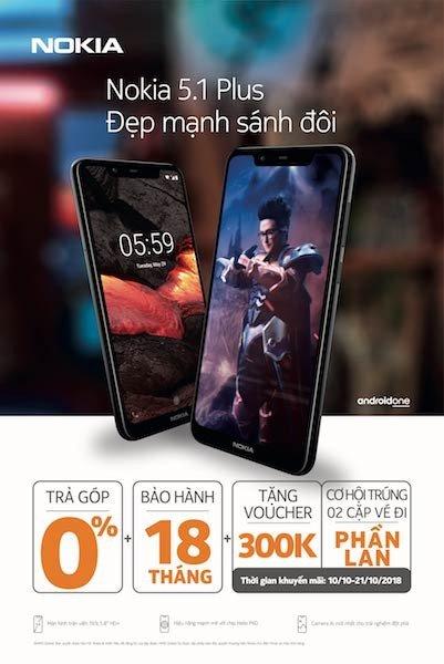 Nokia 5.1 Plus lên kệ giá 4,8 triệu đồng