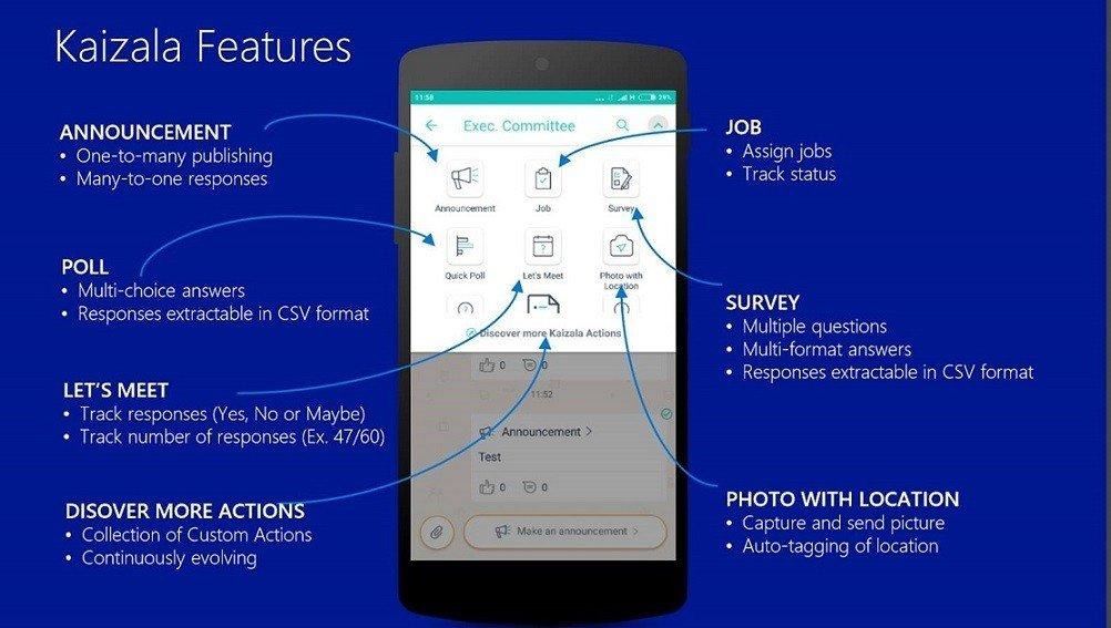 Ra mắt ứng dụng chat trực tuyến Microsoft Kaizala cho doanh nghiệp
