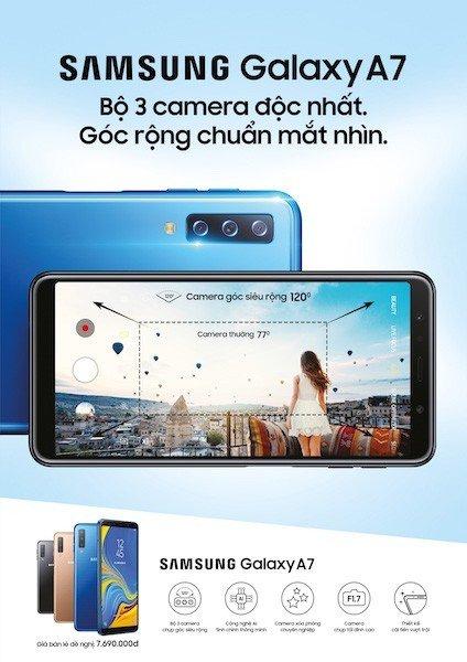 Samsung mở đặt hàng Galaxy A7 (2018), giá 7,69 triệu đồng