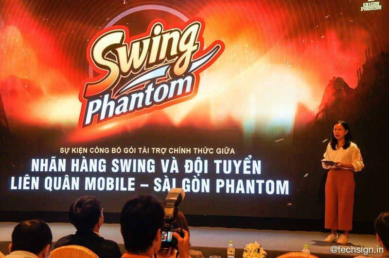Swing tài trợ chính thức cho đội tuyển Liên Quân Mobile - Sài Gòn Phantom