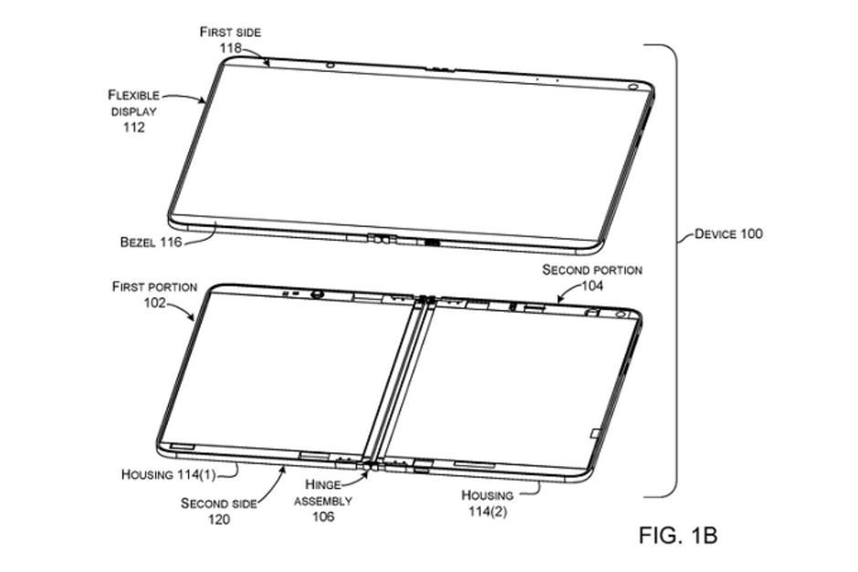 Xuất hiện thiết kế Surface Phone màn hình gập