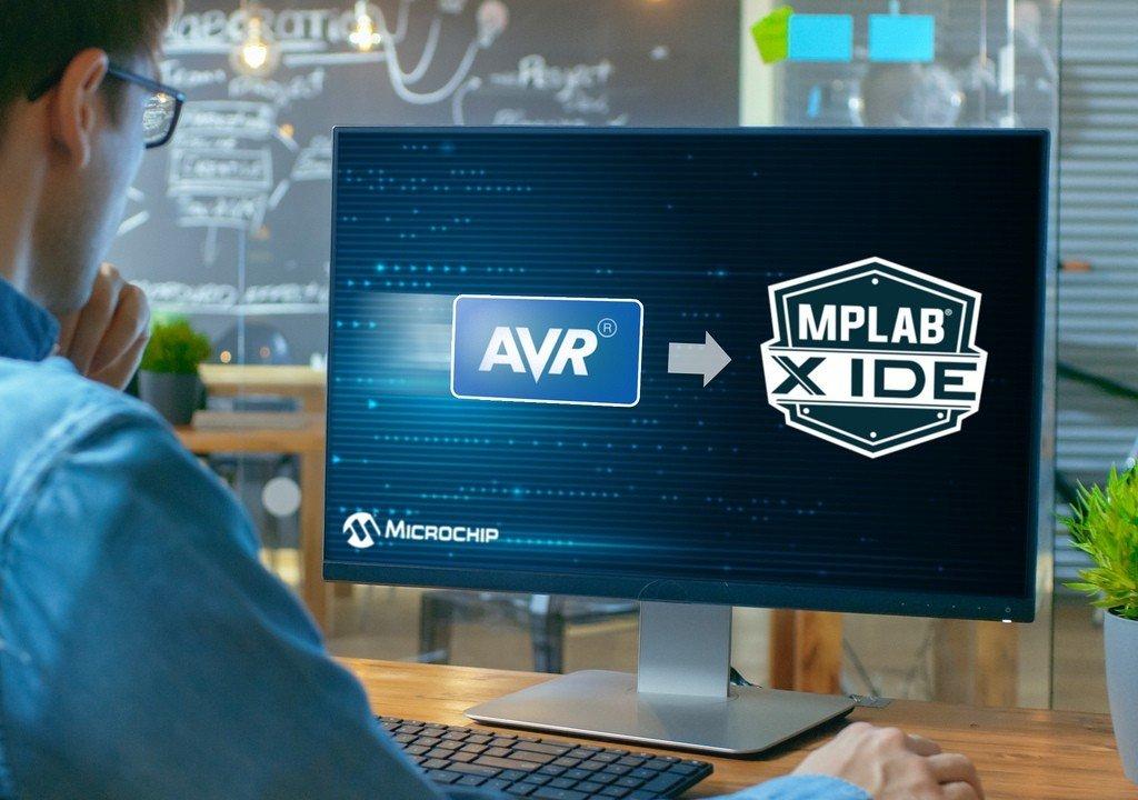 Vi điều khiển AVR được hỗ trợ trong môi trường MPLAB X