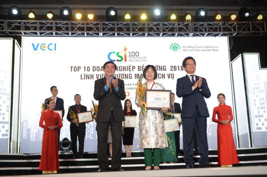 Digiworld vào top 10 doanh nghiệp phát triển bền vững