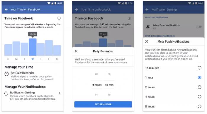 Facebook ra mắt bảng thống kê thời gian hoạt động