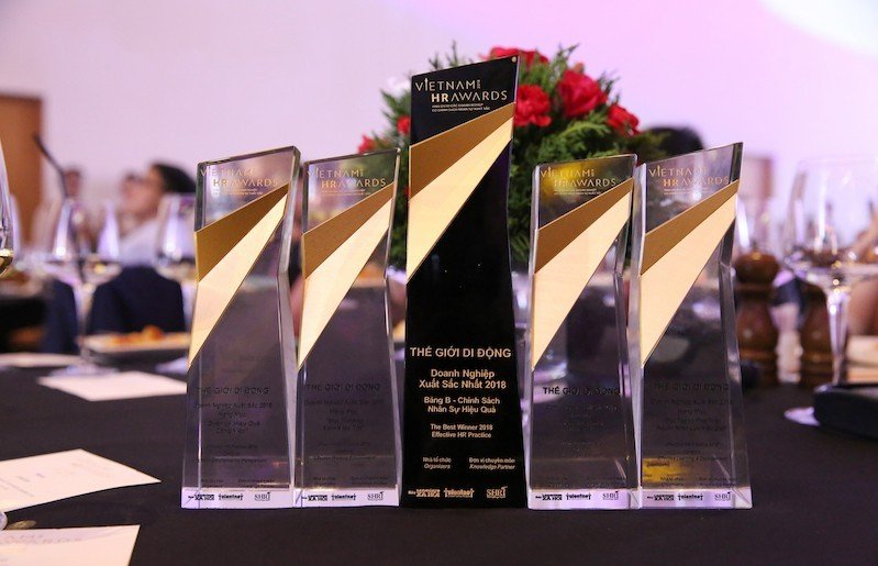 Thế Giới Di Động dành chiến thắng cao nhất tại giải thưởng Vietnam HR Awards 2018