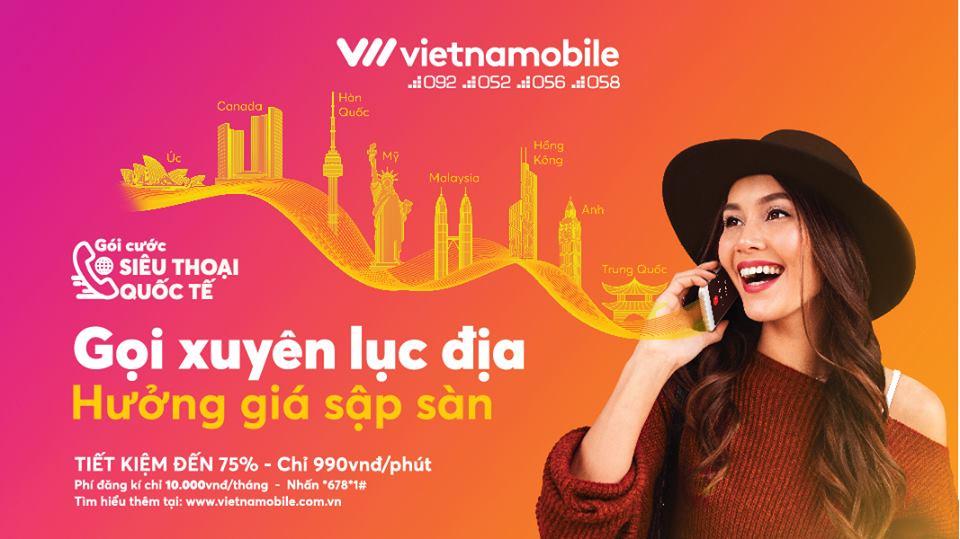 Vietnamobile ra mắt gói cước Siêu Thoại Quốc Tế