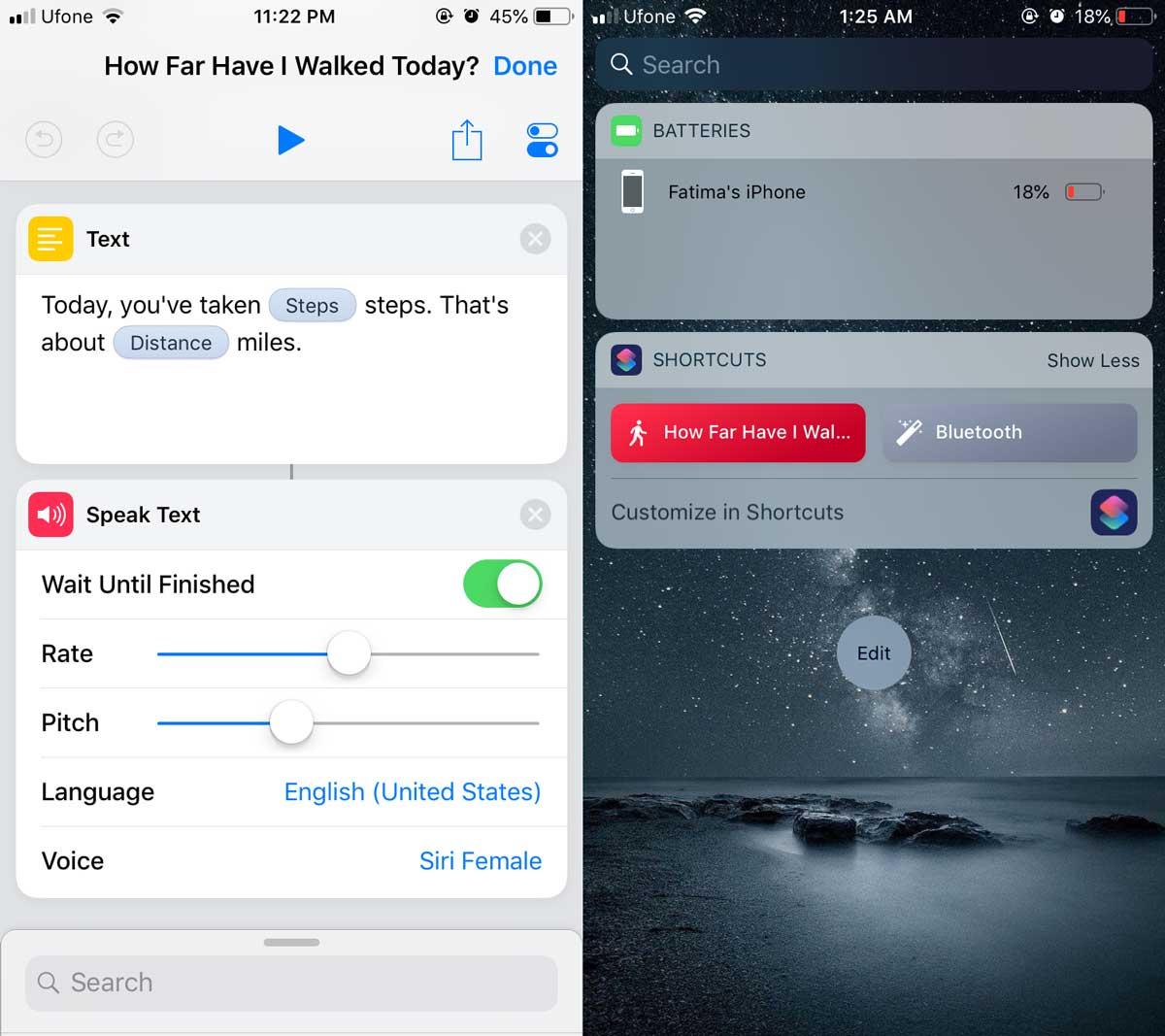 Cách theo dõi số bước đi bằng Siri Shortcut trên iOS