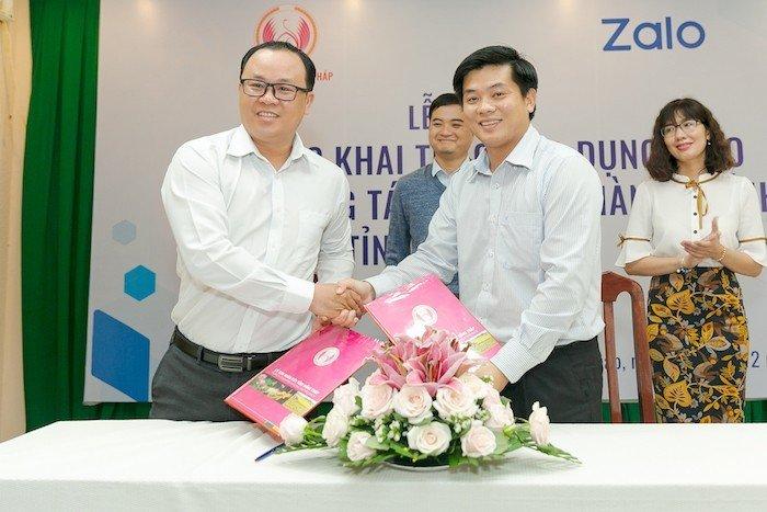 Đồng Tháp dùng Zalo làm nền tảng cho dịch vụ công trực tuyến