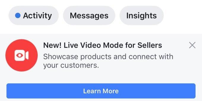 Facebook thử nghiệm tính năng mua sắm mới bằng livestream