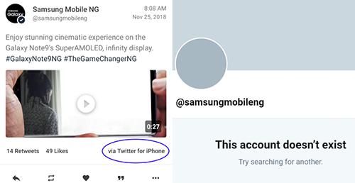 Samsung hai lần dùng iPhone để quảng cáo Galaxy Note9