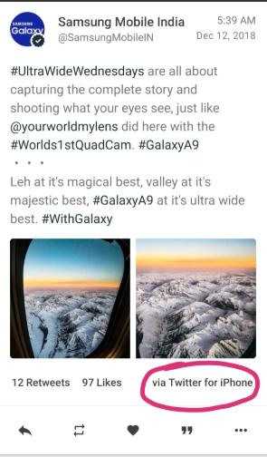 Samsung lại bị bắt gặp quảng cáo điện thoại bằng iPhone