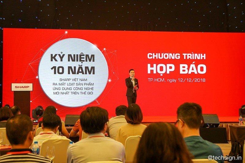 Sharp đánh dấu 10 năm tham gia thị trường Việt