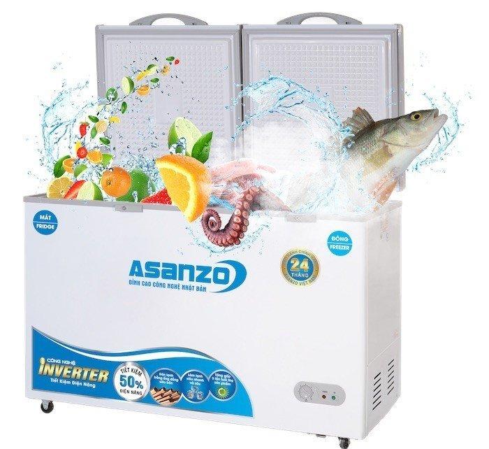 Asanzo giới thiệu 6 tủ đông inverter có dàn lạnh bằng đồng