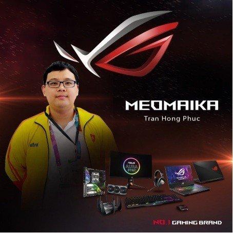 Asus Rog là nhà tài trợ chính cho đội tuyển 496 Dota2 và game thủ Meomaika StarCraft 2