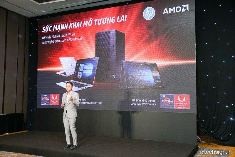 HP giới thiệu các sản phẩm máy tính trang bị chip AMD