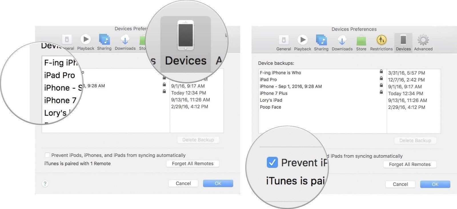 Làm thế nào sao lưu iPhone, iPad ra ổ cứng ngoài