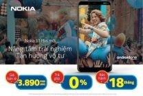 Sau thời gian bán độc quyền, Nokia 3.1 Plus đã lên kệ tại các đại lý