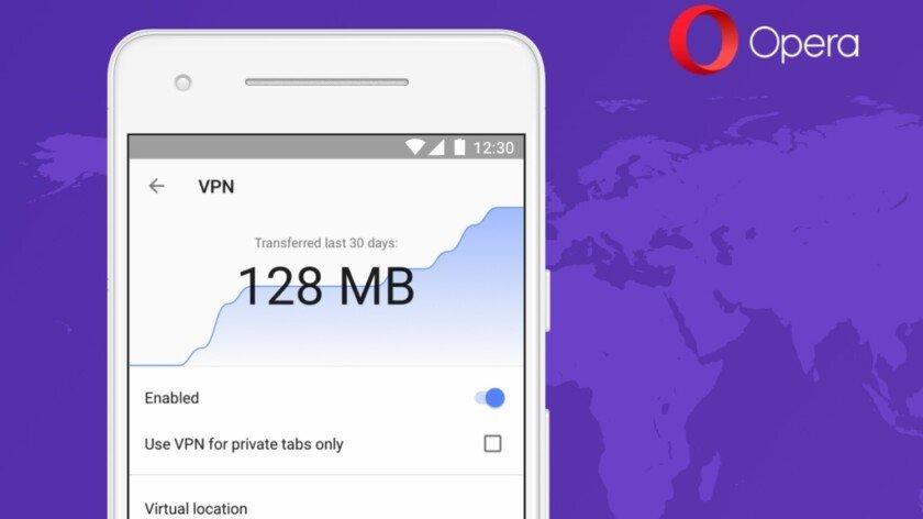 Trình duyệt Opera trên Android sẽ sớm tích hợp VPN miễn phí