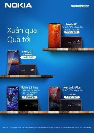 """Chương trình """"Xuân qua, quà tới"""" dành cho khách hàng mua smartphone Nokia tại Việt Nam"""