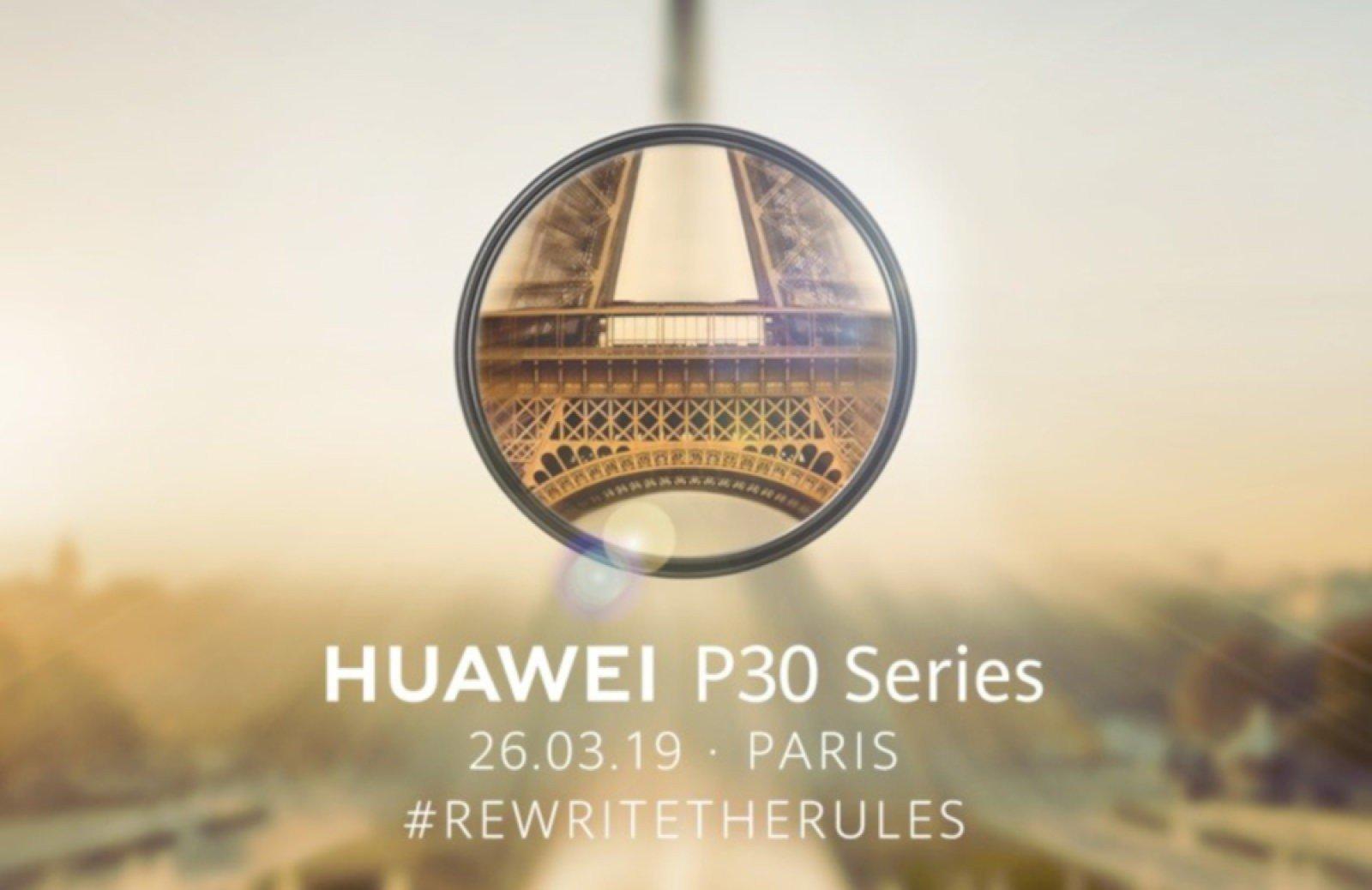 Huawei sẽ ra mắt flagship P30 vào 26/3 tới
