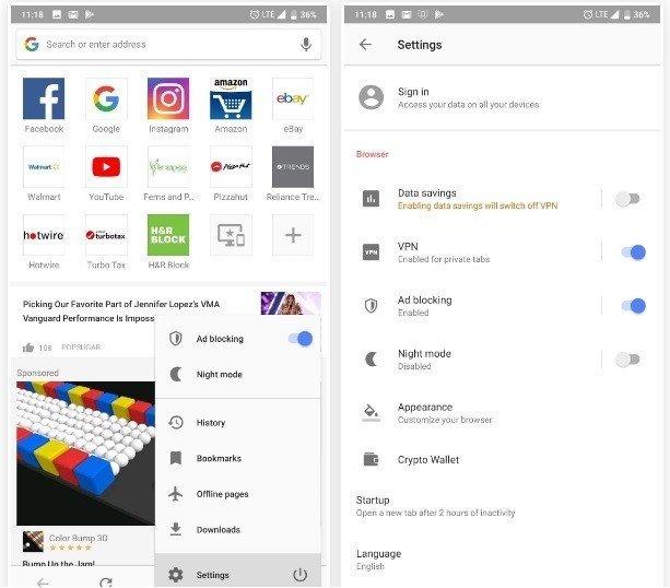 Lướt Web Bằng Vpn Miễn Phi Của Opera Cho Android