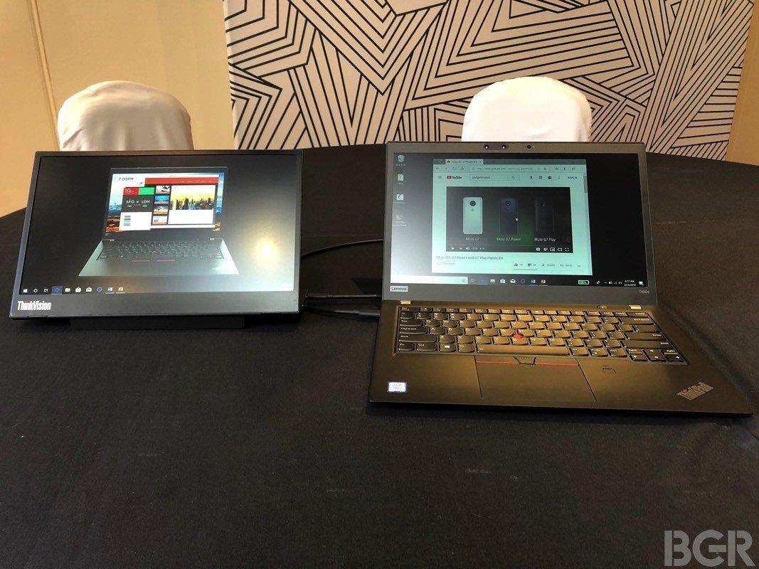 Lenovo ra mắt màn hình di động siêu mỏng nhẹ