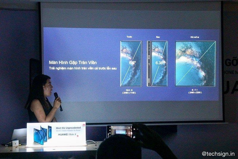 Smartphone màn hình gập Huawei Mate X xuất hiện tại Việt Nam