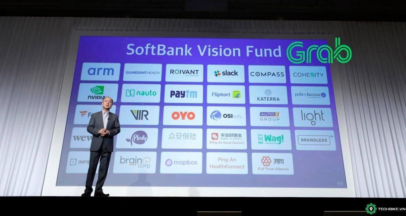 Grab công bố nhận 1,46 tỉ USD từ Quỹ Vision của SoftBank