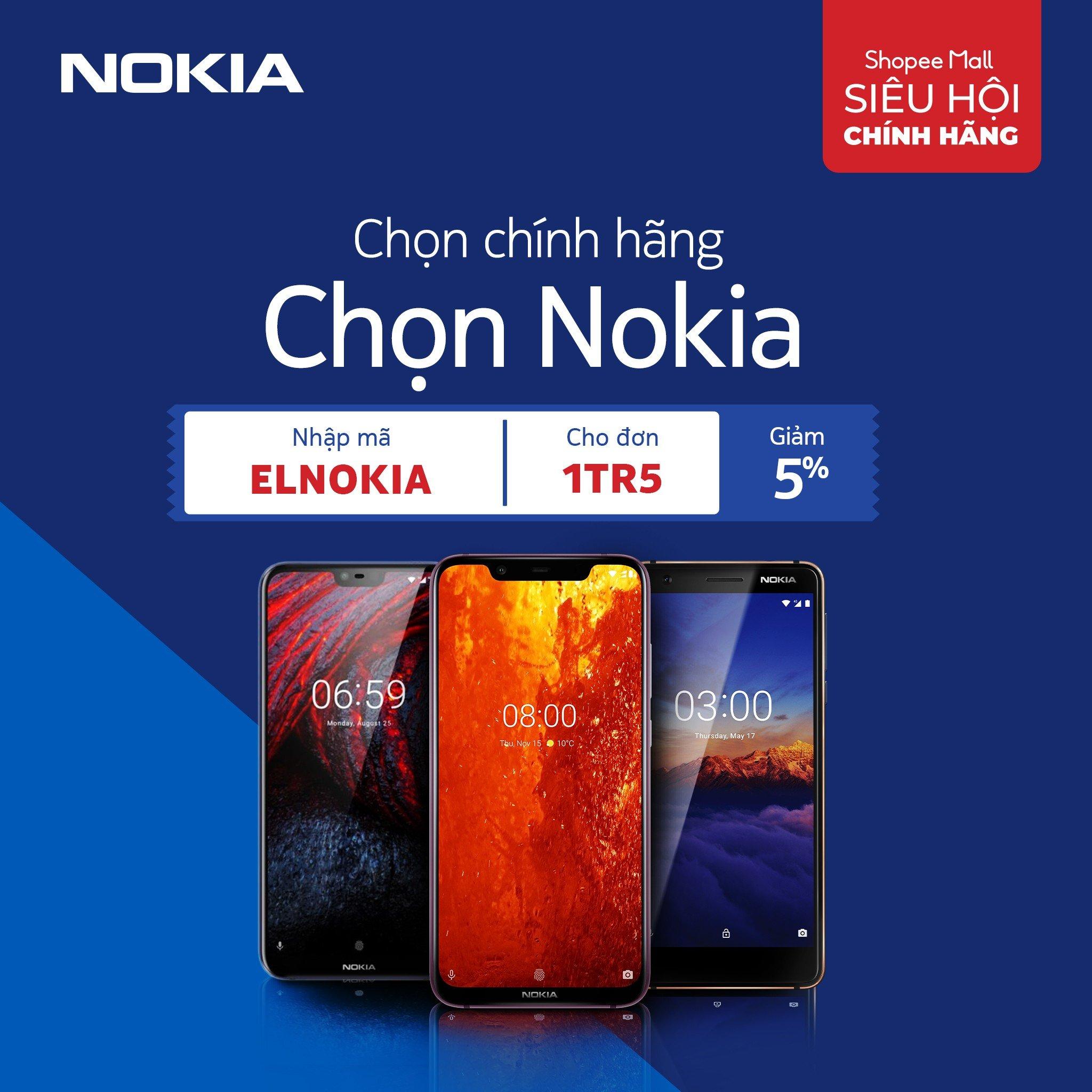 """HMD Global mang đến chương trình """"Chọn chính hãng chọn Nokia"""" trong siêu hội chính hãng của Shopee"""