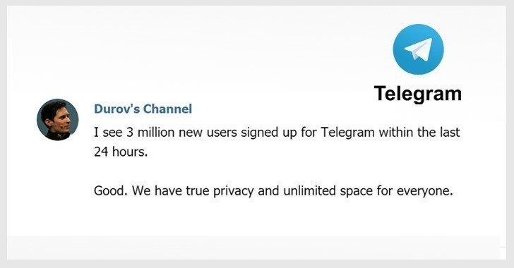Telegram có thêm 3 triệu người dùng mới khi Messenger và WhatsApp bị lỗi