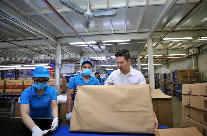 Asanzo sử dụng bao bì bằng giấy tái chế thay cho nilon