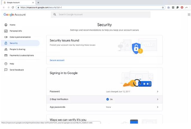 Cách dùng điện thoại Android làm khóa bảo mật hai lớp
