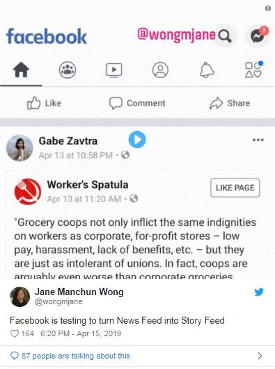 Facebook đang thử nghiệm giao diện mới, hợp nhất New Feeds và Stories