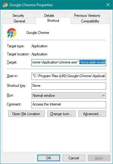 Chrome 74 hỗ trợ chế độ Dark Mode trên Windows 10