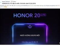 Honor 20 Lite sắp ra mắt tại Việt Nam