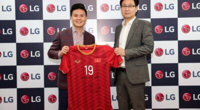 Quang Hải tiếp tục là đại sứ thương hiệu của LG Việt Nam năm 2019