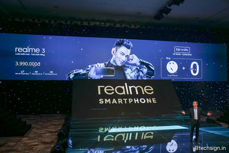 Realme 3 ra mắt: pin mạnh, màn hình giọt sương, giá 3,99 triệu đồng