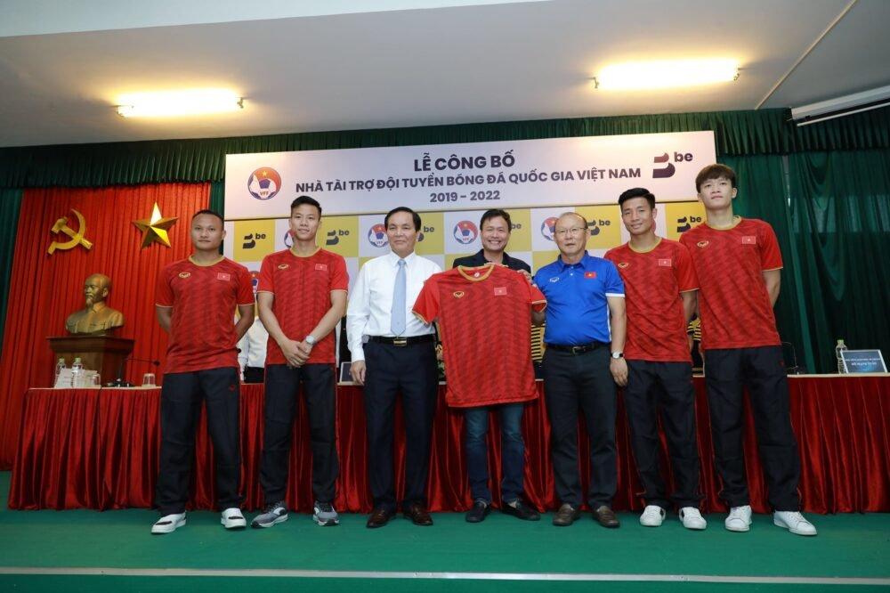 Ứng dụng be trở thành nhà tài trợ đội tuyển bóng đá Việt Nam giai đoạn 2019 - 2022