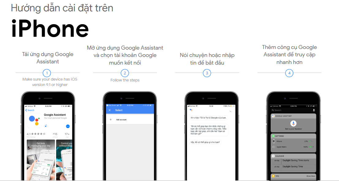 Hướng dẫn cài Google Assistant dùng Tiếng Việt trên Android, iOS