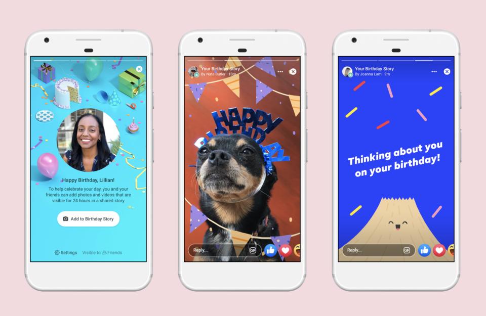 Facebook ra mắt tính năng Birthday Stories mới