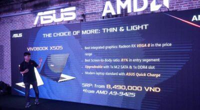 Ra mắt loạt laptop ASUS trang bị AMD Ryzen Mobile