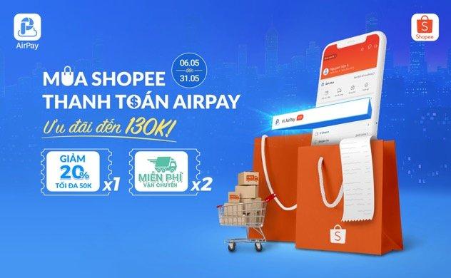 Shopee tích hợp ví điện tử AirPay
